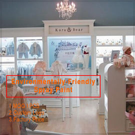 Cina hot sell fashion baby clothes store interior design for clothing display pabrik