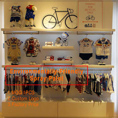 Cina Kids clothing kiosk design with clothing display racks pabrik