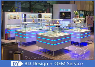 Tampilan Showcase Fashion Jewelry Dengan Lampu Led / Display Konter Perhiasan