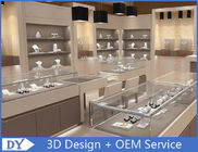Cina Toko Perhiasan Fashion Showroom Interior Showroom MDF + Kaca Tempered pabrik