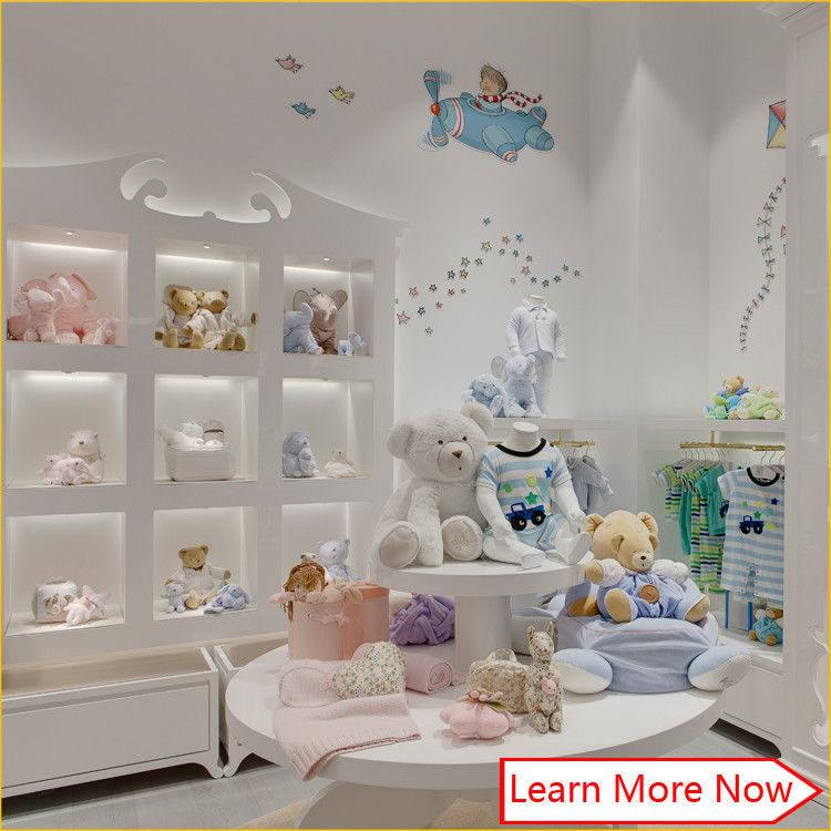 High end fashion wooden white painting kids clothing stores baby girl clothes pemasok